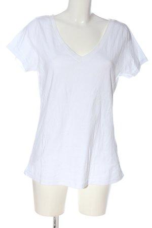 Rainbow V-Ausschnitt-Shirt weiß Casual-Look