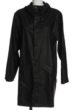 Rains Impermeabile nero stile casual