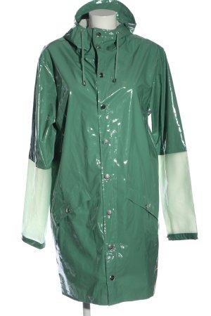 Rains Zware regenjas khaki-wolwit casual uitstraling