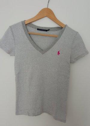 Ralpf Lauren Shirt grau weiß gestreift S