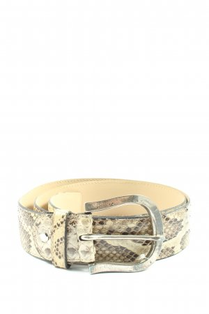 Ralph Gladen Leather Belt allover print casual look
