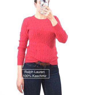 Ralph Lauren 100% Kaschmir Gr. 36/38 Pullover NP 550€ Zopfmuster kuschelweich