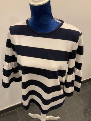 Ralph Lauren Gestreept shirt wit-donkerblauw Viscose