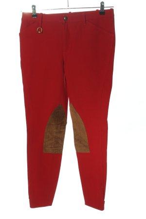 Ralph Lauren Pantalón tobillero rojo-marrón look casual