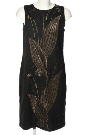 Ralph Lauren Sukienka midi czarny-złoto Nadruk z motywem Elegancki