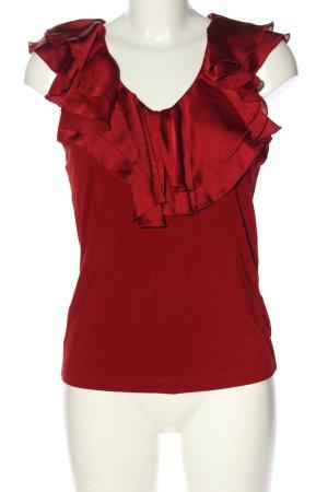 Ralph Lauren ärmellose Bluse rot Casual-Look