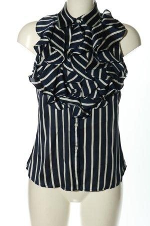 Ralph Lauren ärmellose Bluse blau-weiß Streifenmuster Casual-Look