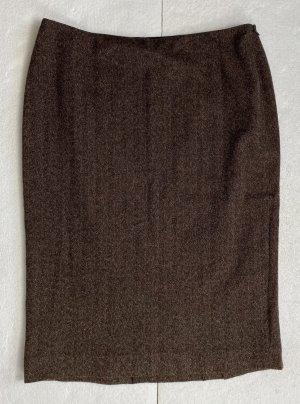 Ralph Lauren Falda de lana marrón Lana