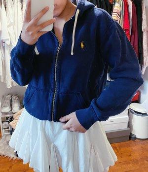 Ralph Lauren blaue dunkelblaue Sweatjacke Sweatshirt Jacke Logo