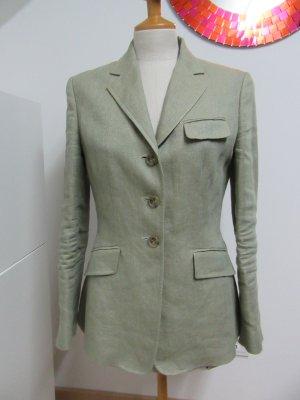 Ralph Lauren Tweed Blazer sage green linen