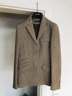 Ralph Lauren Blazer en tweed blanc-marron clair