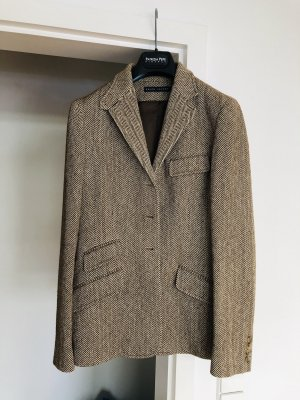 Ralph Lauren Tweed blazer wit-lichtbruin