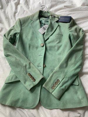 Ralph Lauren Blazer en cuir turquoise-vert menthe