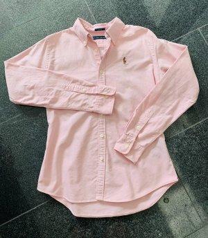 Ralph Lauren Camicetta a maniche lunghe rosa chiaro-rosa