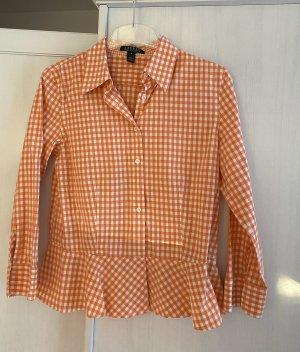 Ralph Lauren Ruffled Blouse orange-white