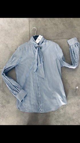 Ralph Lauren Tie-neck Blouse blue-white