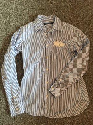 Ralph Lauren Sport Long Sleeve Blouse white-cornflower blue