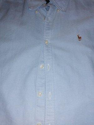 Ralph Lauren Blouse-chemisier blanc cassé-bleu azur