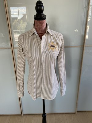 Ralph Lauren Bluse- beige /weiß gestreift- wie neu- Gr 6 / 36 38