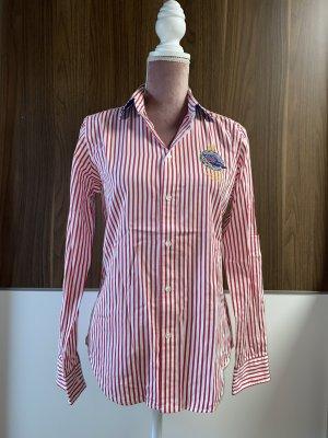 Ralph Lauren Camicetta a maniche lunghe bianco-rosso mattone
