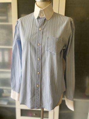 Ralph Lauren Blouse-chemisier blanc-bleu azur