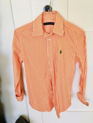 Ralph Lauren Bluse in orange und weiß