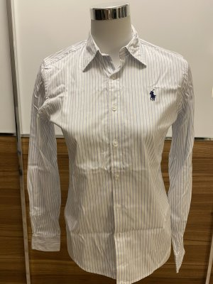 Ralph Lauren Sport Blusa de manga larga blanco-azul celeste