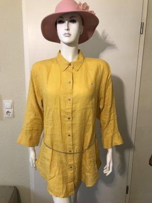 Ralph Lauren Bluse XL gelb 100% Leinen Leinenbluse