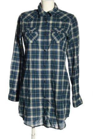 Ralph Lauren Blusenkleid blau-weiß Karomuster Casual-Look