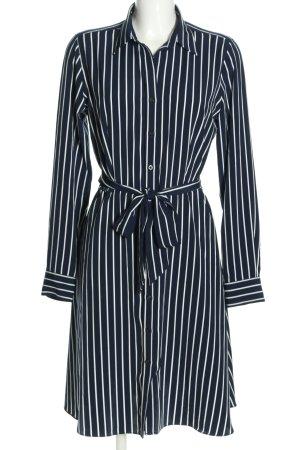 Ralph Lauren Blusenkleid blau-weiß Streifenmuster Business-Look
