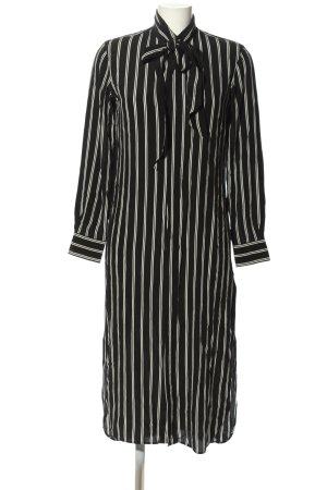Ralph Lauren Blusenkleid schwarz-wollweiß Streifenmuster Casual-Look