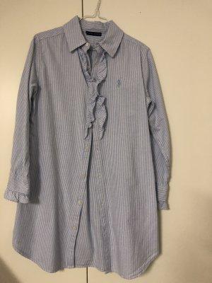Ralph Lauren Camicetta lunga azzurro-bianco sporco Cotone