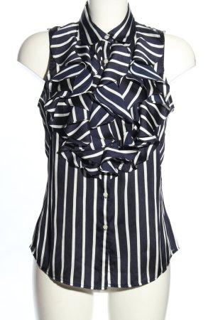 Ralph Lauren Blusa lilla-bianco motivo a righe elegante