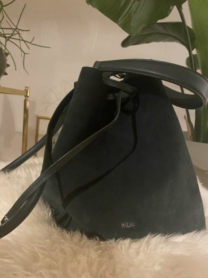 Ralph Lauren Bucket Bag Velvet Green