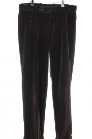 Ralph Lauren Pleated Trousers brown striped pattern casual look