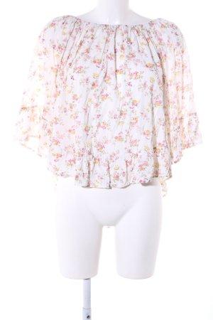 Ralph Lauren Carmen-Bluse creme Blumenmuster Elegant