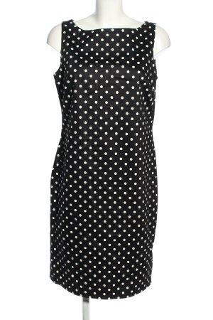 Ralph Lauren Etuikleid schwarz-weiß Punktemuster Casual-Look
