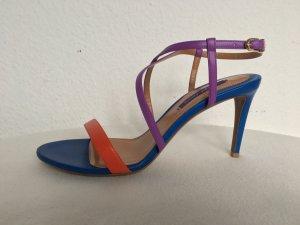 Ralph Lauren Collection, Arissa Sandals, Leder, blau-orange-lila, 39, neu, € 550-