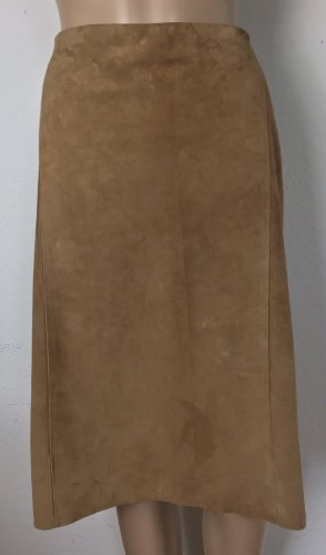 Ralph Lauren Collection, Cindy Suede Pencil Skirt, Camel, US 6 (36), neu, € 1.950,-