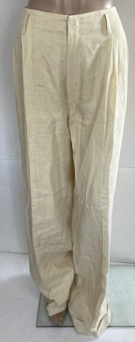 Ralph Lauren Collection, Hose, Cream, US 12 (42), Leinen, neu, € 1.200,-