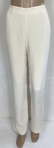 Ralph Lauren Purple Label High Waist Trousers natural white silk