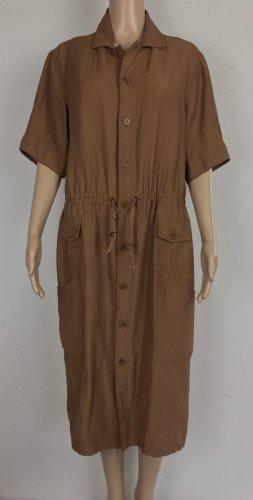 Ralph Lauren Collection, Kleid, braun, US 12 (42), Azetat/Leinen, neuwertig, € 2.000,-