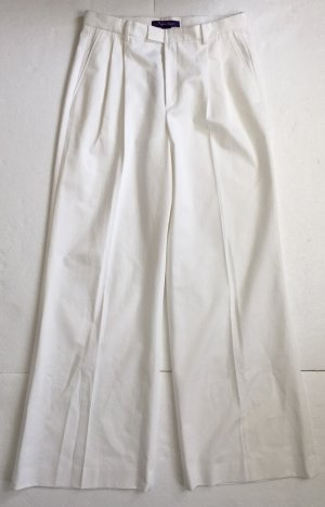 Ralph Lauren Collection, Larena Wide Leg Pant, Weiß, Baumwolle, 40 (US 10), neu, € 1.150,-