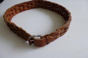 Ralph Lauren Cinturón trenzado marrón Cuero
