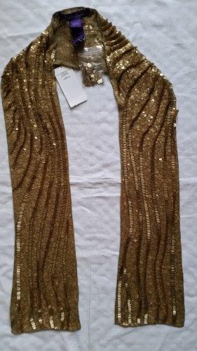 Ralph Lauren Collection Pailletten-Schal, Seide, goldfarben, neu, € 1.650, -