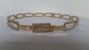 Ralph Lauren Collection, Silber-Gürtel (vergoldet), Swarovski, M, neu, € 2.500, -
