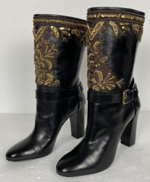 Ralph Lauren Collection, Stiefel, schwarz, embroidered, 37, neu, € 1.500,-