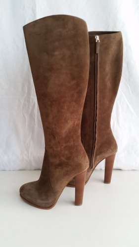Ralph Lauren Collection, Stiefel, Veloursleder, taupe, EU 39,5, neu, € 1.190,-