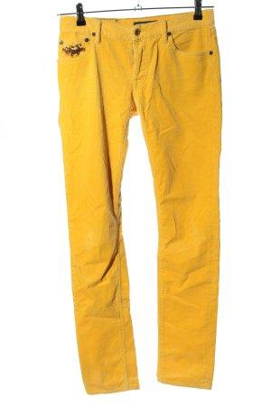Ralph Lauren Pantalone di velluto a coste arancione chiaro stile casual
