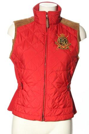 Ralph Lauren Donsvest rood quilten patroon casual uitstraling